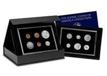 Own a definitive collection of American Coins dating from the release of the first cent in the nineteenth century. Featuring 12 limited edition coins including the famous Morgan Silver Dollar.