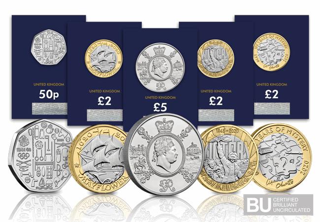 2020 United Kingdom Brilliant Uncirculated Annual Coin Set 13 Coins