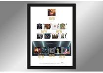 Limited Edition Presentation Frame featuring Royal Mail's 2020 Queen 8v & Mini Sheet, alongside the 1999 Freddie Mercury stamp. The stamps are postmarked with the 2020 stamps' issue date, 09.07.20.