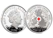 This £5 has been struck by The Royal Mint to commemorate 150 years of the British Red Cross. It has been struck from .925 Silver with colourprinting to a Proof finish. Comes in Royal Mint box.