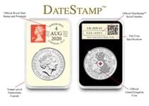 This 2020 DateStamp £5 features the British Red Cross £5 issued by The Royal Mint. It is postmarked with the date 4/8/20 to mark 150 years since the formation of the British Red Cross.