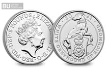 The White Greyhound of Richmond is the ninth release in The Royal Mints Queen's Beasts £5 Series. It has been protectively encapsulated and certified as Brilliant Uncirculated quality.