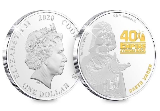 EMPIRE STRIKES BACK 40TH ANNIVERSARY SILVER COIN /& NOTE SET 2020 STAR WARS
