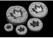 This 2021 Pure Silver Maple Leaf Set has been issued by the Royal Canadian Mint. The coins feature an innovative minting technique that makes the coins appear to pulse. Struck from pure .9999 silver.