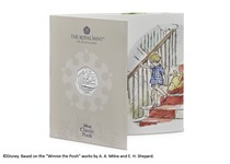 This pack features the official Christopher Robin 50p issued by The Royal Mint. It has been struck to a Brilliant Uncirculated finish and comes presented in bespoke Royal Mint packaging.