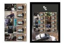 The James Bond Stamps Framed Edition features Royal Mail's 2020 James Bond No Time to Die Collector Sheet alongside Officially Licensed Philatelic Labels. The stamps have been officially postmarked