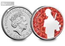 This 2020 £5 Remembrance Day coin has been released to commemorate those who have fought. This £5 has been protectively encapsulated and certified as superior Brilliant Uncirculated quality.
