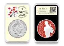 This 2020 DateStamp features the £5 Remembrance Day coin issued by The Royal Mint to mark Remembrance Day. It is postmarked 11.11.20 to commemorate the occasion.