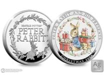 Your Peter Rabbit Christmas Commemorative is struck from .925 silver and features a full colour image. Obverse features the Official Peter Rabbit Logo. Comes in a Deluxe Presentation case . EL: 995