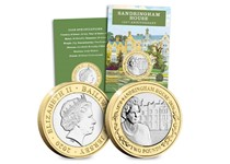 To commemorate the 150th anniversary of Sandringham House a brand new £2 coin has been issued. The reverse features a detailed portrait of Her Majesty with an illustration of Sandringham House.