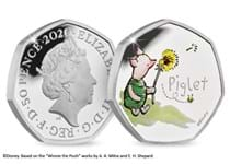 This is the official Piglet issued by The Royal Mint. Struck from .925 silver to a proof finish and features a colour image of Piglet. Comes in Royal Mint presentation box with certificate. EL 18,000.
