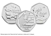 This collection includes all three 50ps issued by The Royal Mint in the Winnie the Pooh 50p series in 2020. Struck to Brilliant Uncirculated quality and comes in bespoke packaging from The Royal Mint.