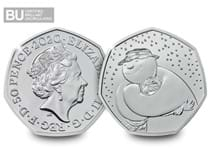 Own the 2020 UK Snowman™ CERTIFIED BU 50p, protectively encapsulated in Change Checker packaging.