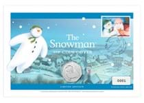 Your Snowman 50p Coin Cover features the Royal Mint's UK 2020 Snowman 50p in a Brilliant Uncircualted condition alongside Royal Mail's 1993 The Snowman and Father Christmas 1st class stamp.