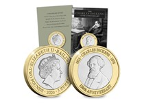 2020 marks the 150th anniversary of Charles Dickens death. To commemorate such a legend in literature, Jersey have released a BU £2 featuring a portrait of Dickens, along with his year of birth-death.