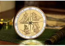 This coin has been issued by The Royal Canadian Mint to celebrate the 4 tall ships of Canada that represents 150 years of matitime history.  EL 500.