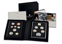 This 2021 Annual Collector Proof Coin Set issued by the Royal Mint consists of 8 definitive UK coins and 5 new commemorative issues for 2021. Proof finish. Comes in official Royal Mint packaging.