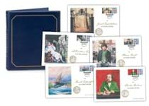 The Charles Dickens Complete Coin Cover Collection features all 5 of the Jersey 2020 Charles Dickens £2 coin covers, each cover with its own Specially Commissioned Dickens Philatelic Label.