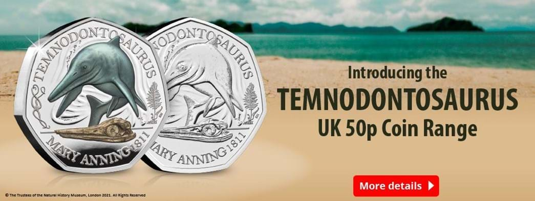 Introducing the Temnodontosaurus UK 50p Coin Range