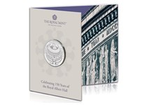 This is the official Royal Albert Hall £5 coin struck and issued by The Royal Mint. It is struck to a Brilliant Uncirculated finish and comes presented in a coin pack.