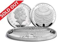 This is the official Royal Albert Hall £5 coin struck and issued by The Royal Mint. It is struck from Silver to a Proof finish and is domed in shape. Comes in official Royal Mint presentation box.