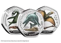 This collection includes the 3 Mary Anning 50ps issued by The Royal Mint in 2021. Each coin is struck from .925 silver to a proof finish with colour printing. Each coin comes in TRM packaging.