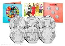 2021 marks the 50th Anniversary of the Mr Benn TV series. To celebrate, a new collection of 50ps has been released by Guernsey featuring some of the best-known characters. Comes in bespoke pack.