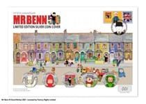 The Mr Benn 50th Anniversary Ultimate Silver Cover features all five of the 2021 Mr Benn stamps in .925 Silver. Features a Royal Mail stamp and bespoke smiler postmarked 01.04.21. EL: 50