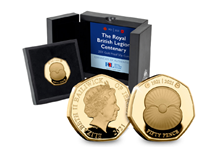 Your RBL Centenary 50p coin has been issued to commemorate the 100th Anniversary of the formation of the RBL. The coin has been struck from.375 Gold to a Proof finish.