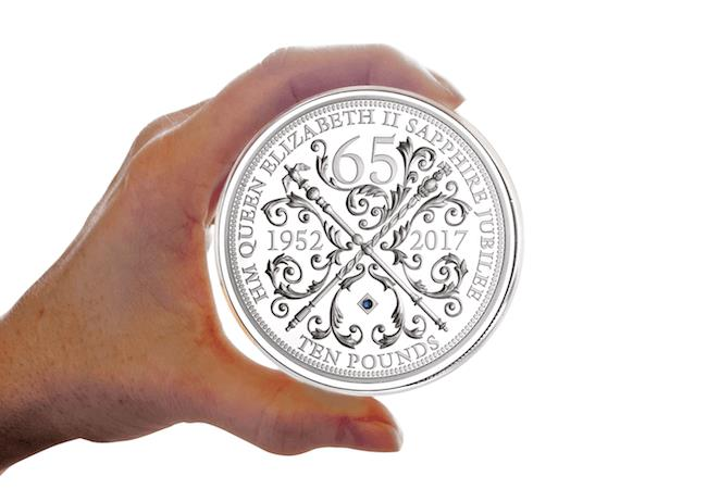 Own The Strictly Limited 5oz Silver Sapphire Jubilee Coin