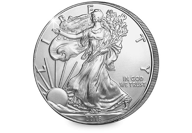 2018 Ms70 Pcgs First Strike Silver Eagle Dollar Coin