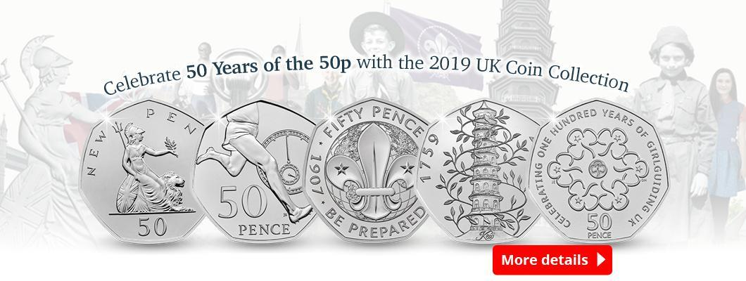 Celebrate 50 years of the 50p with the 2019 UK Coin Collection