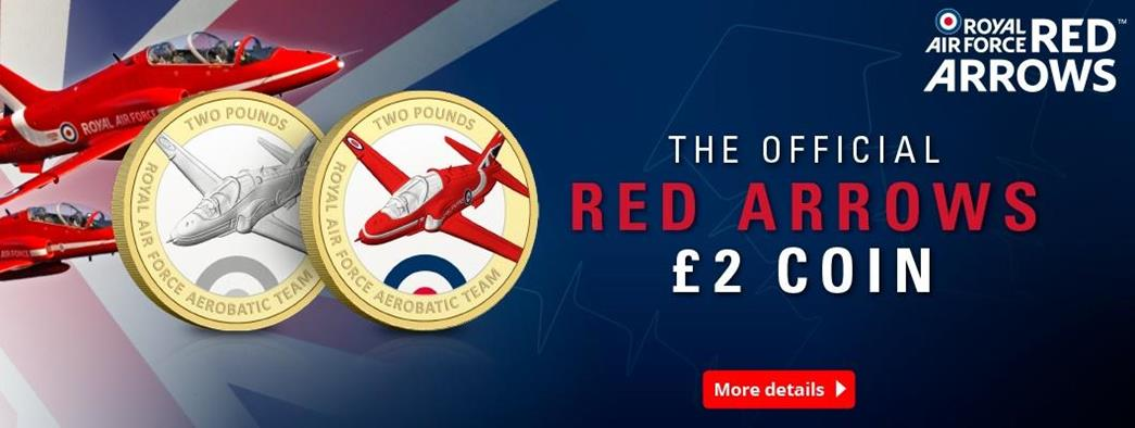 Own the First Ever Official Red Arrows £2 coins...