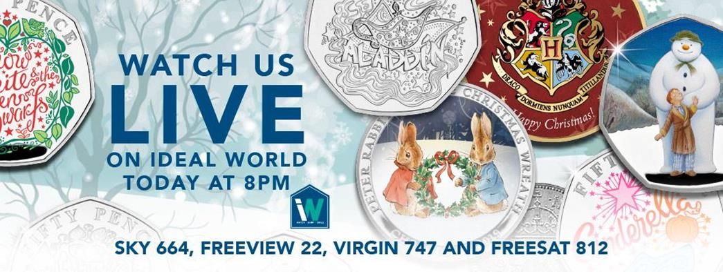 Watch us LIVE on Ideal World tonight at 8pm for a special Christmas Coins Show