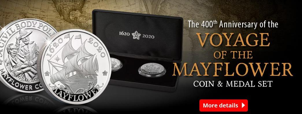 The 400th Anniversary of the Voyage of the Mayflower Coin and Medal Set