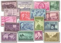 Own the complete United States Year Set of Stamps from 1944 and 1945. Seventeen stamps that tell the story of the events of 1944 and 1945 as seen in the USA and yours to own for generations to come.