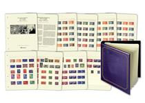 The COMPLETE 1946 Victory Stamp Collection. All 164 stamps issued by more than 50 countries in the months after the Second World War ended.Complete with display pages, title page and album.