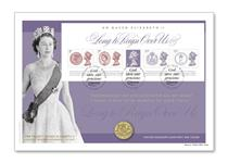 Issued to mark Queen Elizabeth II becoming our Longest Reigning Monarch on 09/09/2015, your cover features the UK Royal Mail Long to Reign Over Us Miniature Sheet and a UK 2015 Royal Arms £1 Coin.