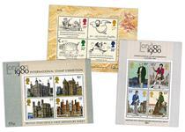 Features the first three multivalue miniature sheets to be issued by Royal Mail: 1978 Architecture, 1979 Rowland Hill and 1988 Edward Lear.