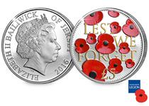 In remembrance of the brave men and women of conflicts past and present, a brand new £5 Proof Coin with falling poppies design has been issued in support of The Royal British Legion.