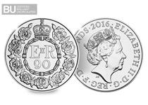 To celebrate Queen Elizabeth II's 90th birthday, the Royal Mint has issued a brilliant uncirculated £5 coin.