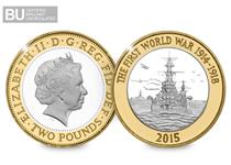 To commemorate the 100th anniversary of WWI, the Royal Mint has issued a £2 coin featuring The Navy.