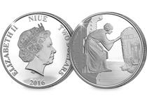 Struck in .999 Silver, this officially licensed coin has been issued by Niue to celebrate the classic Star Wars series. The reverse design features a film-accurate engraving of Princess Leia.