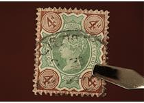 "Known as the ""Jubilee"" issue - the 1887 4d Green and Brown was released in the year Queen Victoria celebrated her 50th year on the British throne. You can own an example of this stamp for just £9.99."