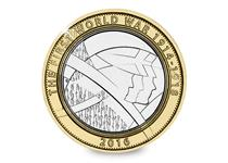 To commemorate the 100th anniversary of WWI, the Royal Mint has issued a £2 coin featuring The Army.
