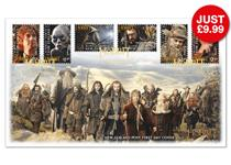 Superb collectable First Day cover featuring the NEW Official 'The Hobbit' Stamps issued by New Zealand. Postmarked on their first day of issue - 1st November 2012.