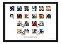 Limited Edition Presentation Frame Featuring Royal Mails's 2017 Official Star Wars 8v stamps alongside Royal Mails 2015 12v Star Wars Stamps. Postmarked: 12/10/17, EL: 4995
