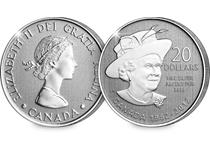 This 2012 dated $20 coin has been struck by the Royal Canadian Mint in pure silver. Features Queen Elizabeth portrait on reverse and bust of Queen Elizabeth II on obverse. Edition limit of 250,000