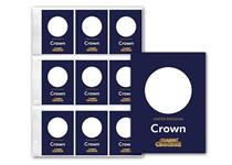 1x Change Checker PVC Page and 9 x Protective Collecting cards for UK Crown coins. The perfect way to present/protect your coins for a lifetime. The Collection Page will fit in a Change Checker Album.