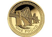 Issued in 2004 as part of the £1 Bridge series. The reverse design features the Forth Railway Bridge to represent Scotland. Uncirculated quality.